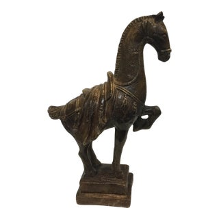 Brown Glazed Horse Statue