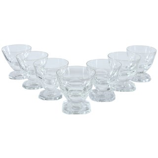 French Heavy Footed Tasting Glasses - Set of 7