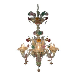 Italian Venetian Glass Chandelier