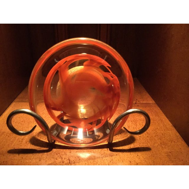 Seguso Viro for Murano Orange Art Glass Dish - Image 4 of 9