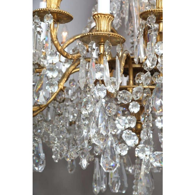 Crystal & Bronze 18-Light Chandelier from the Ritz Carlton on Palm Beach - Image 5 of 10