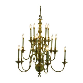 15 Light Faux Candlestick Chandelier