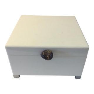 John Richard White Lacquered Jewelry Box
