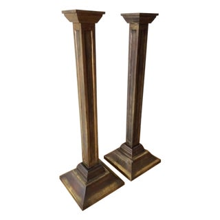 Large Brass Candlesticks - Pair