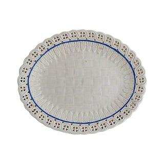 Antique Creamware Lace Edge Platter