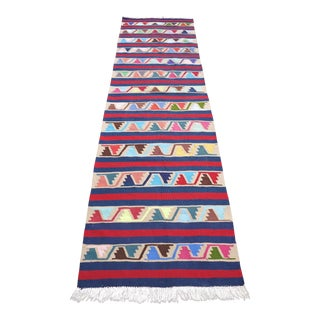 Vintage Turkish Kilim Runner Rug
