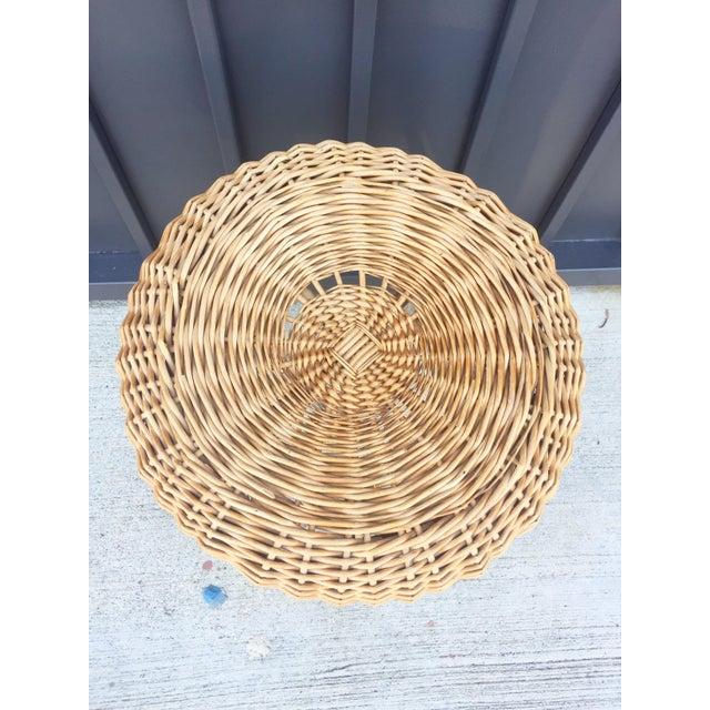 Image of Low Tan Wicker Stool