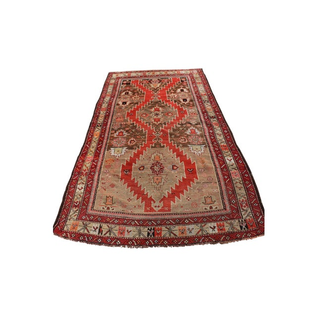 "Image of Vintage Red Caucasian Kilim - 4'5"" x 8'11"""