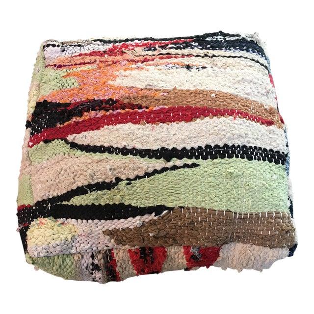 Multi Color Moroccan Floor Pouf - Image 1 of 4