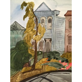 San Francisco Lombard St. Watercolor Painting