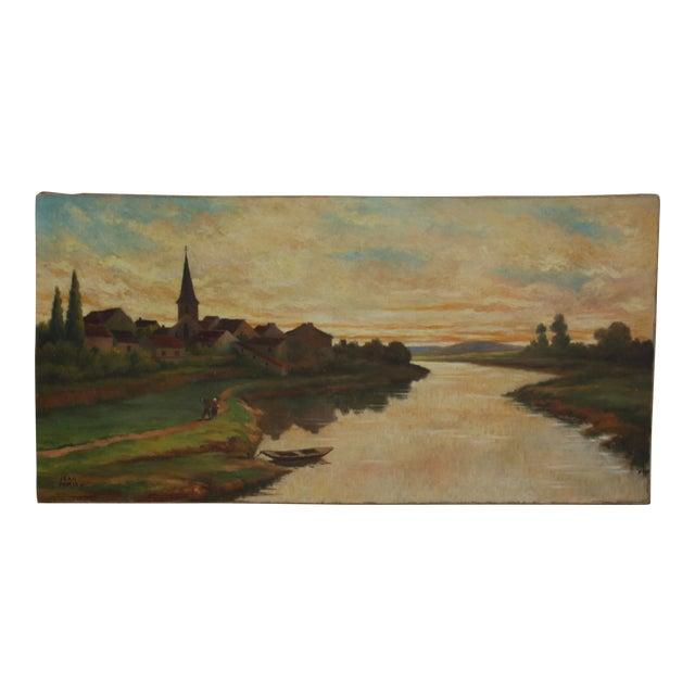 Vintage Landscape Oil Painting - Image 1 of 3