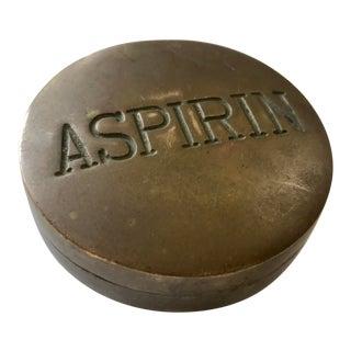 Solid Brass Aspirin Stash Box