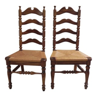 Ladder Back Chairs - A Pair