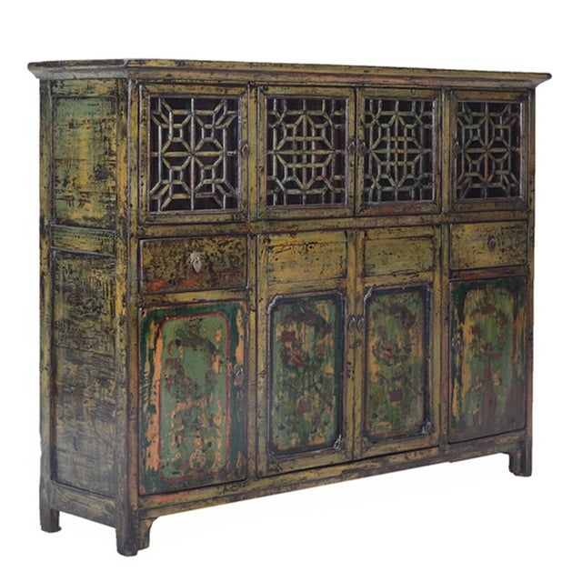 Vintage Chinese DongBei Kitchen Curio Cabinet - Image 2 of 4