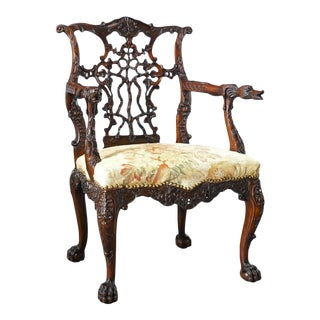 18th Century Georgian Mahogany Armchair