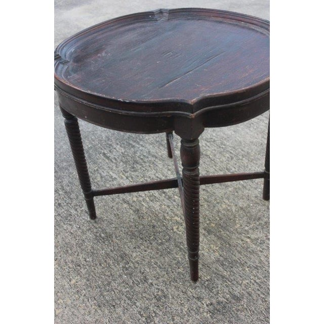 Antique 1920s Round Barley Leg Side Table - Image 4 of 4