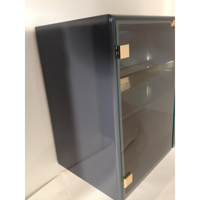 Pair of Milo Baughman for Thayer Coggin Illuminated Lacquered Floating Cabinets - Image 2 of 6