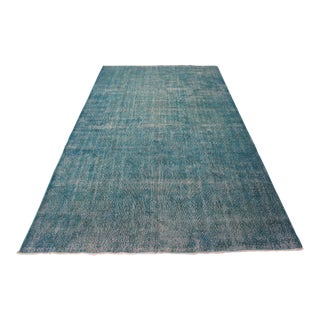 "Turquoise Turkish Overdyed Rug - 6'7"" X 10'10"""