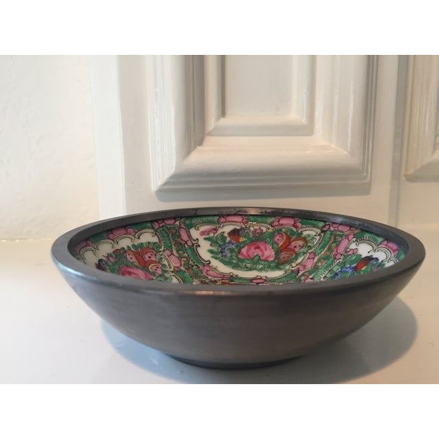 Hand Painted Ceramic & Pewter Dish - Image 4 of 10