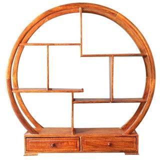 Chinese Round Curio Display Shelf