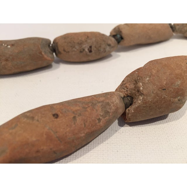 Image of Antique African Tribal Chunky Terra Cotta Bead Necklace