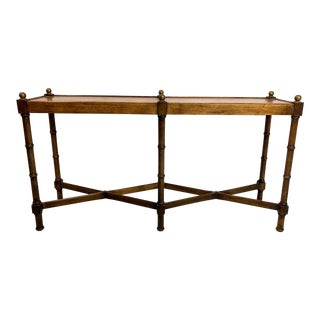 Faux Bamboo Console Table by Brandt