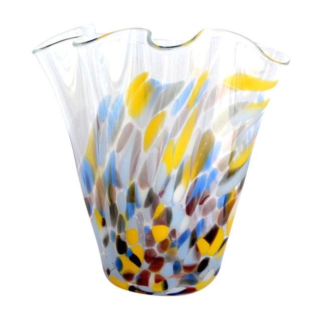 Sculptural Hand-Blown Handkerchief Vase - Image 1 of 6
