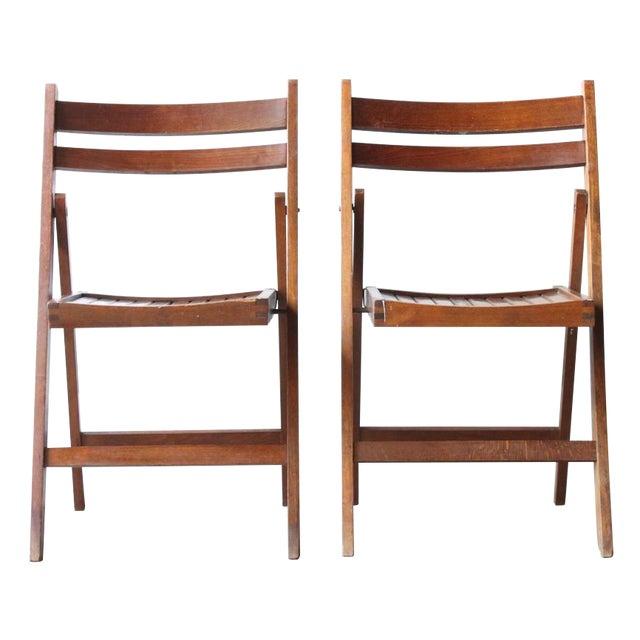 Walnut Folding Chair - Image 1 of 4