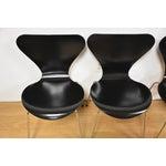 Image of Arne Jacobsen Fritz Hansen Chairs - Set of 4