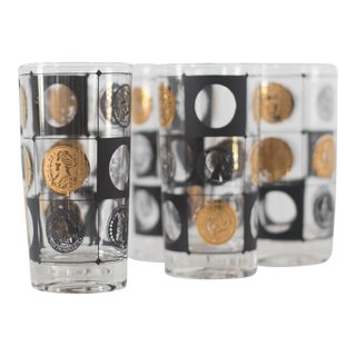Mid-Century Coin Glasses- Set of 5