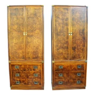 Hickory Furniture Company Campaign Cabinets - A Pair