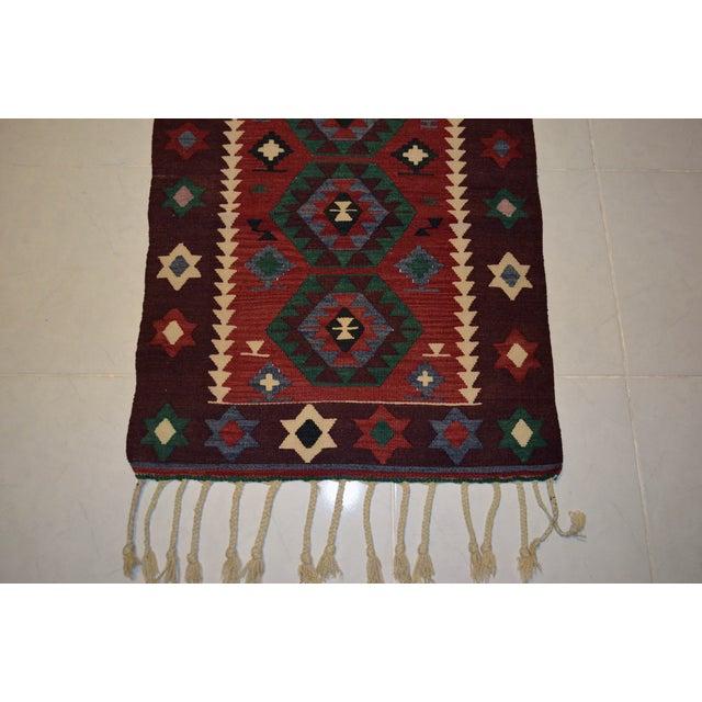 Hand-Woven Turkish Flatweave Rug - 2′7″ × 3′7″ - Image 7 of 9