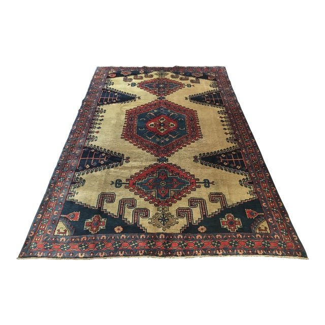 Antique Hand Knotted Persian Rug - 10 X 7 - Image 1 of 11