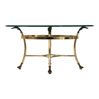 Petite Brass & Glass Table