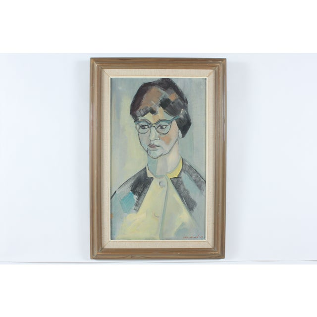 1960 Portrait Painting by Engebrand - Image 2 of 3