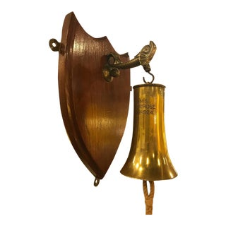 Artillery Shell Mounted Ship's Bell