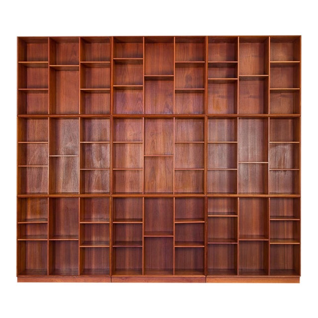 Modular Wall of Stacking Bookcases - Image 1 of 11