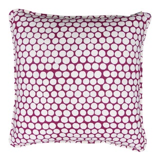 "Katherine Rally Magenta ""Barcelona"" 20""x20"" Pillow"