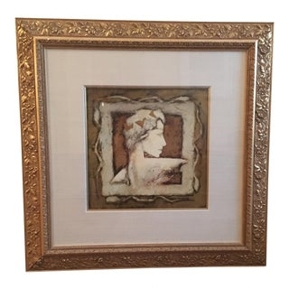 Framed Portrait of a Woman in Neutral Tones