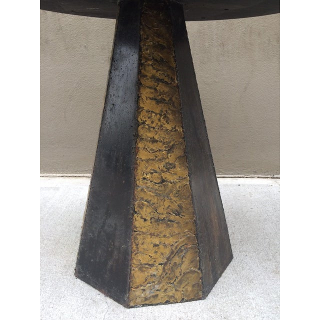 Paul Evans Round Slate Top Table - Image 5 of 7