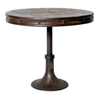 """Industrial """"Drum"""" Table"""