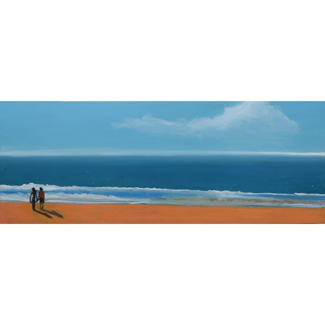 Small Sea With Couple Oil Painting - Image 10 of 10