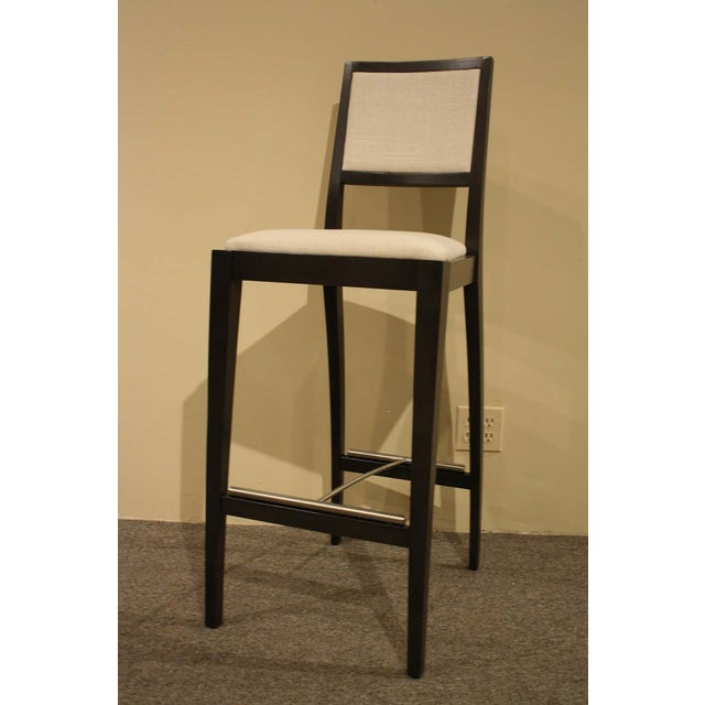 Image of Solid Wood Bar Stools - Set of 4
