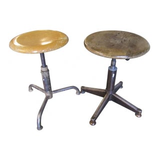 Duo of Swiss Stools - Offered Individually