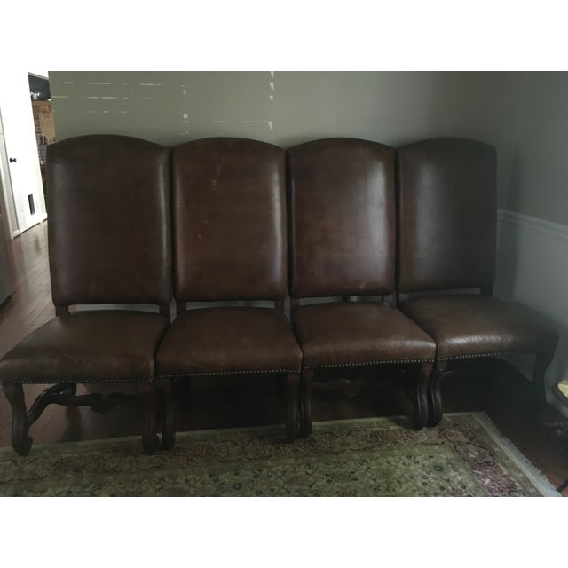 Image of Ralph Lauren Leather Dining or Accent Chairs - S/4