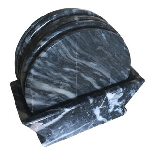 Vintage Marble Coasters - Set of 6