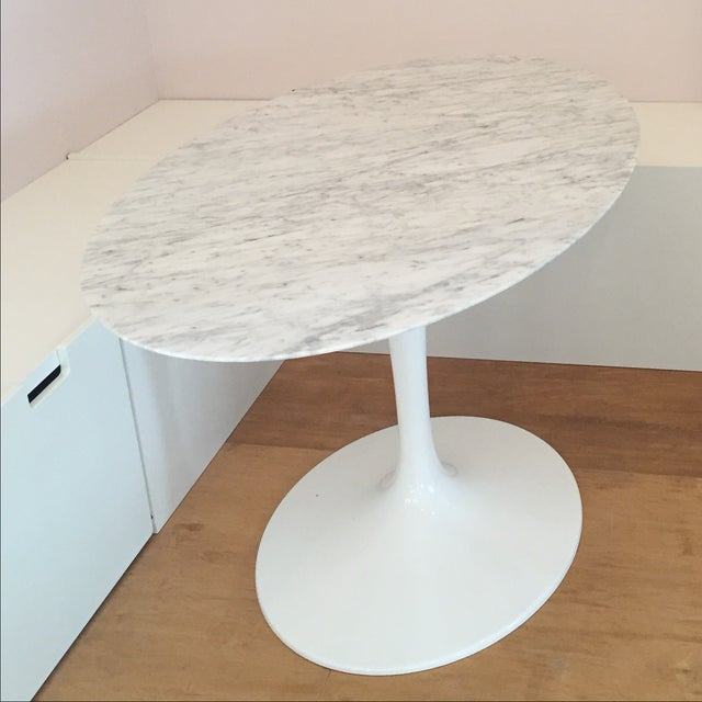 Marble Top Oval Tulip Table