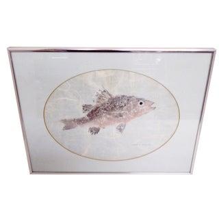 """Fish"" Nature Print by Luola W. Poelott, 1983"