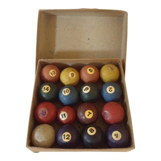 Billiard Game Balls - Set of 16