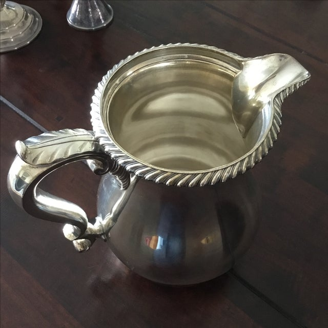 Gorham English Solid Sterling Silver Water Pitcher - Image 5 of 6